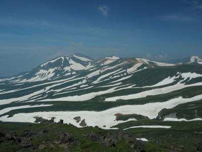 神々の遊ぶ庭へ再び その4 緑岳・白雲岳・赤岳大縦走後編 圧巻!ゼブラ模様の大雪山