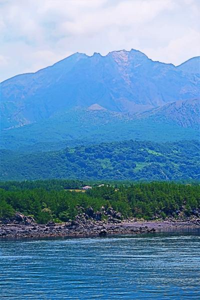鹿児島-7 桜島-1 桜島フェリー よりみちクルーズ 50分 ☆錦江湾‐桜島西海岸を眺めて