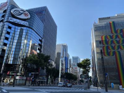2021年8月 通勤途中。朝の東京を撮影。