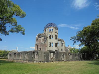 8月6日広島市訪問-2  広島電鉄 原爆ド-ム