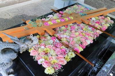 2021.8 十勝川温泉1泊旅 ①三国峠、ナイタイ高原経由で花手水の帯広神社へ