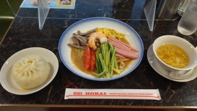 食い倒れの大阪2日目、アロフト大阪堂島の朝食、堂島ロール、551蓬莱レストラン、りくろーおじさん