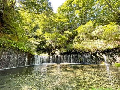 2021年8月 涼を求めて軽井沢日帰りの旅 鬼押出し園・白糸の滝・旧軽井沢