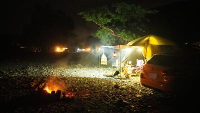 鯖街道(朽木宿)で雨キャンプ