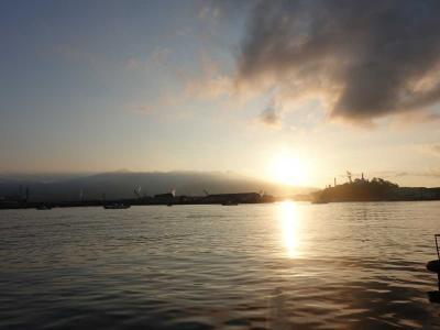 自転車でGO!早朝バージョン&ポタリング =富士市内(10)田子の浦の日の出=2021.07.21