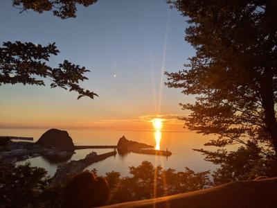 なんちて Petite Tour de SHIRETOKO_2日目_夕陽台から望む「知床八景」