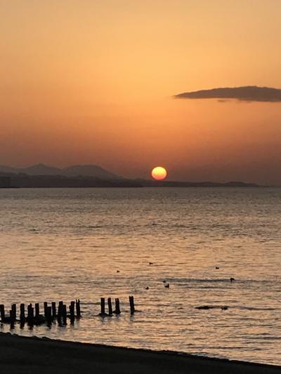 松江観光と、宍道湖に沈む夕陽鑑賞
