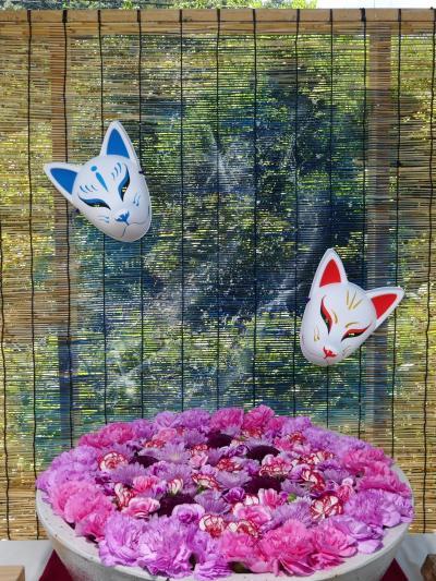「あしかがフラワーパーク」の花手水_2021(2)_全7鉢、毎週更新してます(栃木県・足利市)