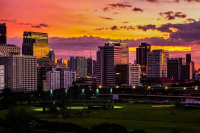 バンコク 何でもない日常生活 綺麗な朝陽と夕陽に癒された