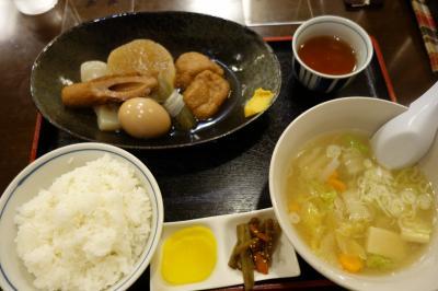 20210825 旭川 お昼を探しに外出て、駅前ビルまで彷徨い…おにぎり茶屋でおでん定食
