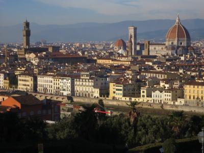 ミケランジェロ広場からフィレンツェを眺め
