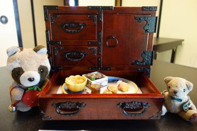 ☆旧伊達邸鐘景閣でいただくミニ箪笥膳☆ 2021年8月 仙台箪笥で懐石料理