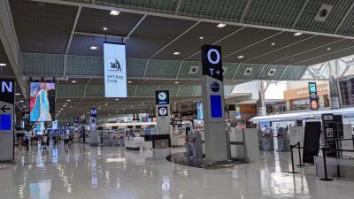 リムジンバスが走ってなぁ~い!…と3日前に気が付いて慌てて京成電鉄で空港へ向かった日!