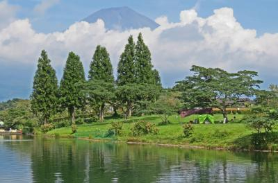 富士山裾野の静かな田貫湖で孫キャンプ