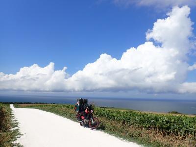 北海道ツーリング 33日目 礼文島から稚内「白い道」「エサヌカ線」を走りました。