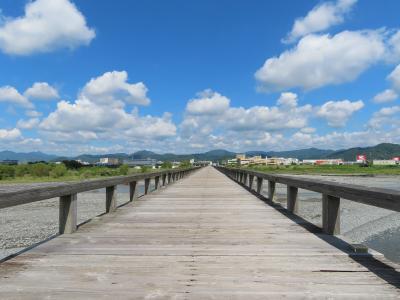 ぶらり静岡県日帰りの旅(大井川に架かる木造歩道橋の蓬莱橋とふじのくに茶の都ミュージアムへ行く)