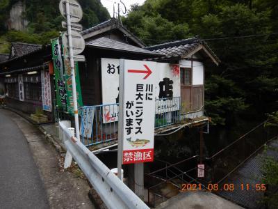 再び越県の旅(2) 耶馬渓町「一目八景」に急遽立ち寄り、道の駅「童話の里くす」へ・・・