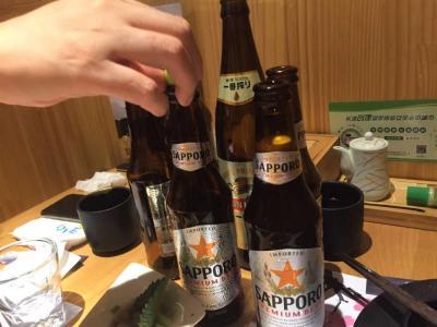 公園でハエを見て、居酒屋でビール三社飲み比べ...(9月10日なので)