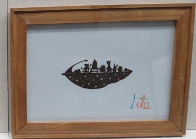 【ちょっとお出掛け】葉っぱアート。 <田原市博物館>