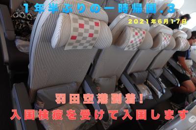 1年半ぶりの一時帰国.3 羽田空港到着! 入国検疫を受けて入国します