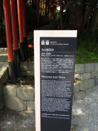丸山稲荷社の説明看板