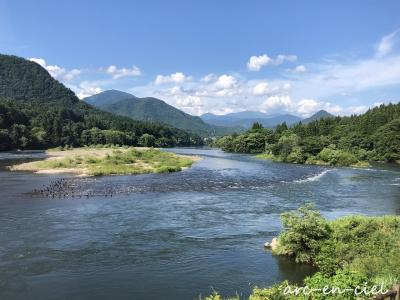 長大な阿賀野川を眺めて☆麒麟山温泉 絵かきの宿 福泉(2021)