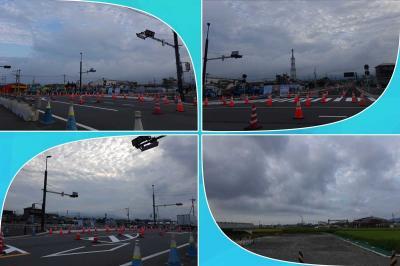 早朝散歩・新しい道路(本市場・大渕線の一部)開通・前後 2021.09.11~16 =第1回(9/11)=