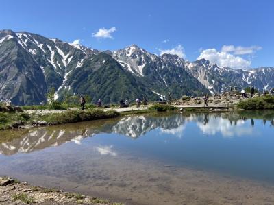 白馬三山と八方池 青空と絶景に巡り合い!