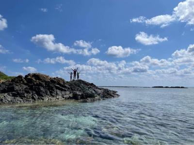 6・8歳児連れ、連休で沖縄北部の離島はしごの旅:那覇~伊是名島編