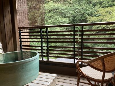 初秋の四万温泉女ひとり旅ー豊島屋の露天風呂付客室に宿泊ー