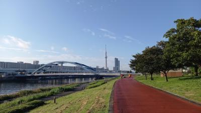 旅ラン、はじめました。  南千住から浅草寺へ。墨田川沿いをタラタラ走る7km