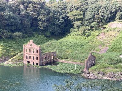 6・8歳児連れ、曽木発電所遺構と霧島温泉旅行人山荘