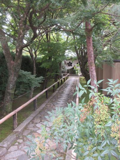 光悦寺庭園を見学し鷹峯街道を歩く