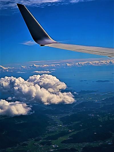 JAL261便  広島空港  14:45着 羽田~75分 ☆瀬戸内海‐尾道水道-山間部を通り