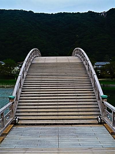 山口/岩国-3 錦帯橋 b 橋体部分-架け替えは2004年/50年ぶり ☆幅5m-往復を渡りきる