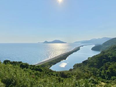 甑島は絶景の宝庫だった ( 2. 長目の浜、里麓武家屋敷跡、亀城跡、サーフィンスクール )