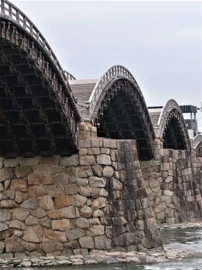 山口/岩国-4 錦帯橋 c 槍倒し松 ・創建1673年‐大工技術を継承 ☆実験橋も作って次へ