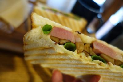 20210930-1 京都 島原のGOOD TIME COFFEEで鴨葱サンド