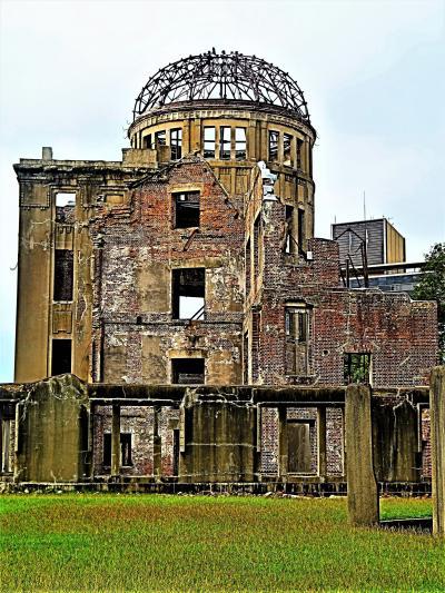 広島-1 広島-1 世界遺産 原爆ドーム 敷地一巡 視点様々50 ☆第5回保存工事を終えて