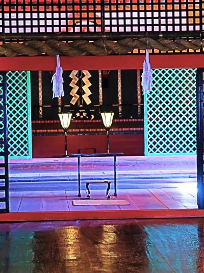 広島15 宮島-4 厳島神社a 参拝 国宝-本殿・拝殿・回廊等6棟 ☆世界遺産-厳粛な空間