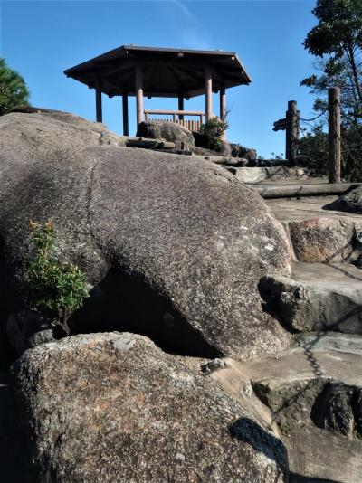 広島19 宮島-8 獅子岩展望台 標高433m -露岩 ☆瀬戸内海の島々:四国山脈の眺望も