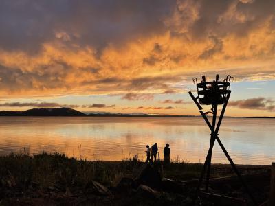 2021.9 サロマ湖鶴雅リゾートの夕陽とサンゴ草