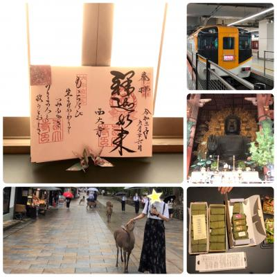 2021 遅い夏休み 3泊4日 京都・奈良・大阪の旅 二日目 近鉄特急*日帰り奈良へ!   夕食は柿の葉寿司の食べ比べ