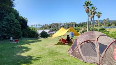 台風一過の館山ファミリーパークキャンプ場