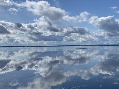 湯宿だいいち しれとこ村 オーベルジュ北の暖暖 野付半島はまるでウユニ塩湖!①