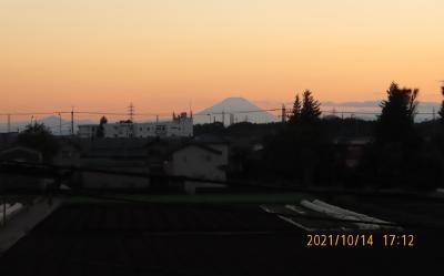 素晴らしかった夕焼け富士