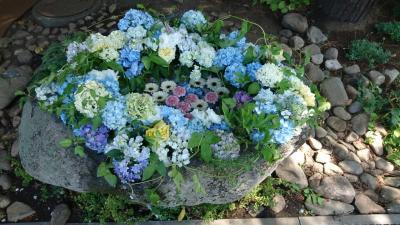花詣に行く、花手水21・札幌西区