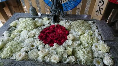 こんな時こそ花詣。花手水21・北区、東区の神社へ。