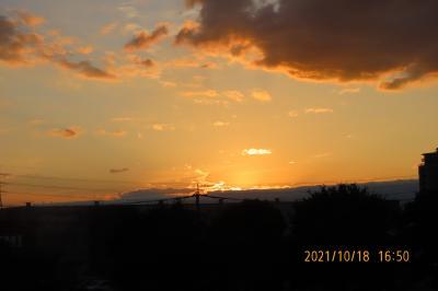 ふじみ野市ビバホームから見られた夕暮れ風景