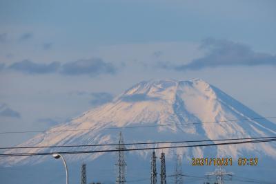 10月21日に見られた富士山